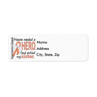 Heaven Needed Hero Uterine Cancer Sister Label