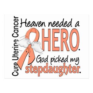 Heaven Needed Hero Uterine Cancer Stepdaughter Postcard