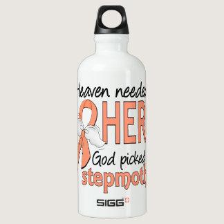 Heaven Needed Hero Uterine Cancer Stepmother Aluminum Water Bottle