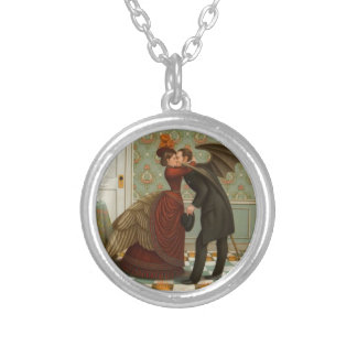 Heaven nor Hell Round Pendant Necklace