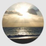 Heaven on earth round sticker