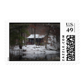 Heaven on Earth Snow Covered Cabin in Tennessee Po Postage