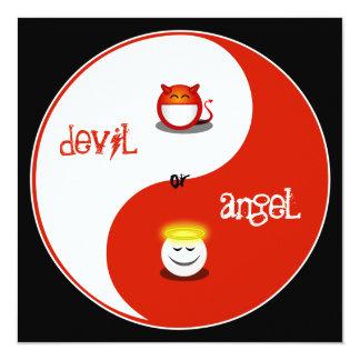 """Heaven or Hell Bachelorette Party Invitation 5.25"""" Square Invitation Card"""