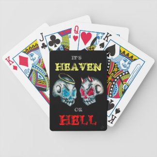 Heaven Or Hell Bicycle Playing Cards
