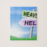 Heaven or hell sign concept jigsaw puzzle