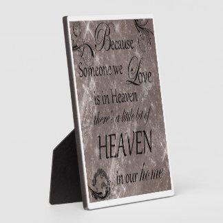 heaven photo plaque