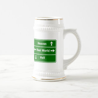 HEAVEN,REAL WORLD & HELL BEER STEIN