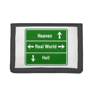 Heaven, real world & hell tri-fold wallets