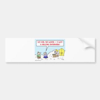 heaven saint peter second interview bumper sticker