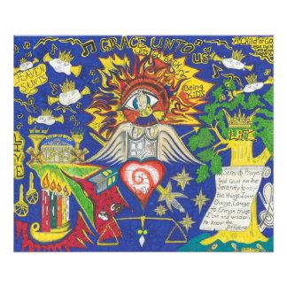 Heaven Saints spritiual abstract Photo Print