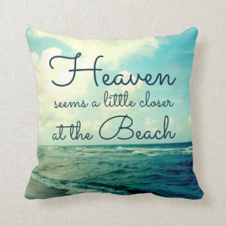HEAVEN SAYING BEACH PILLOW