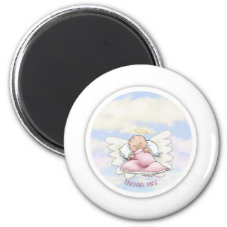 Heaven Sent - Angel Baby Girl 2 Inch Round Magnet