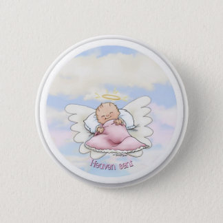 Heaven Sent - Angel Baby Girl Button