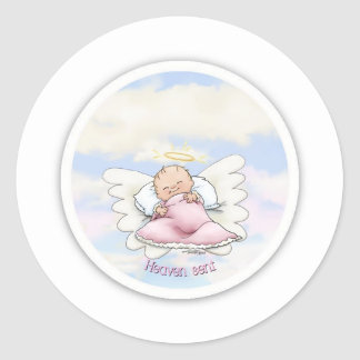 Heaven Sent - Angel Baby Girl Classic Round Sticker