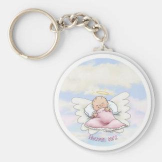Heaven Sent - Angel Baby Girl Keychain