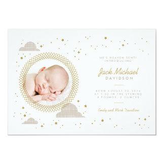 Heaven Sent Baby Birth Announcement