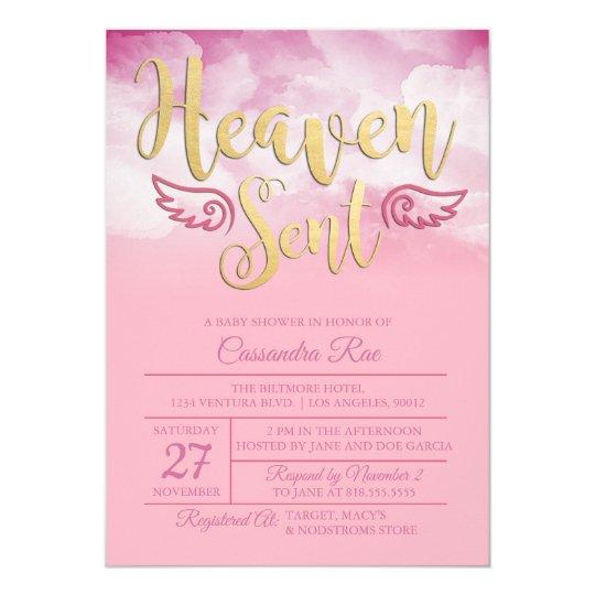 Heaven sent baby shower invitation zazzle heaven sent baby shower invitation filmwisefo