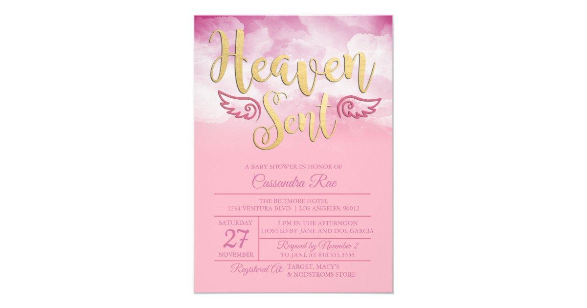 Heaven sent baby shower invitation zazzle filmwisefo