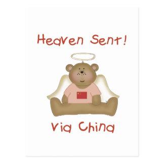 Heaven Sent Via China (girl) Postcard