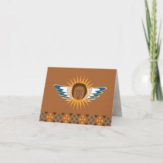 Heaven Sent via Ethiopia - Announcement Cards card