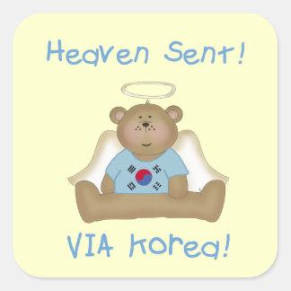 Heaven Sent  Via Korea  (boys version) Stickers