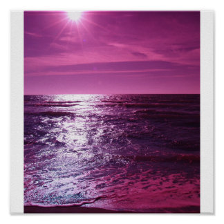 Heaven Shines Purple Poster