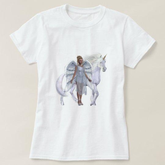 Heavenly Angel And Unicorn T-Shirt