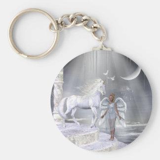 Heavenly Angel Unicorn Scene Keychain