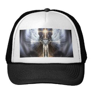 Heavenly Angel Wing Cross Fractal Art Hat