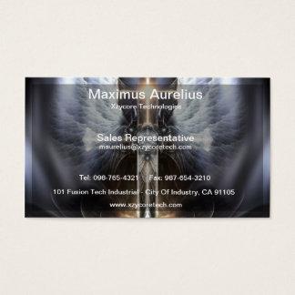 Heavenly Angel Wing Cross Fractal Business Card