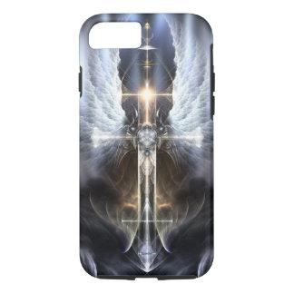 Heavenly Angel Wing Cross Fractal iPhone 7 case