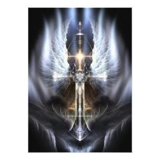 Heavenly Angel Wing Cross Photo Enlargement