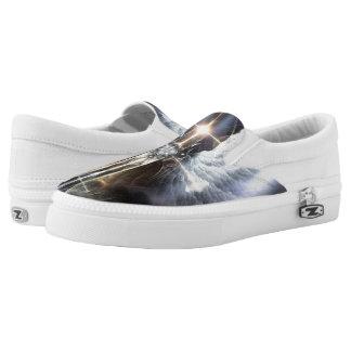Heavenly Angel Wings Cross Slip Ons Printed Shoes