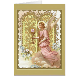 Heavenly Angel with Eucharist Card