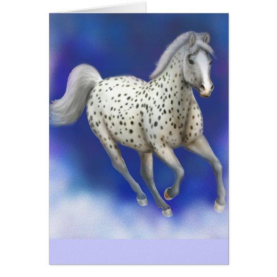 Heavenly Appaloosa Horse Card