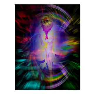 Heavenly apparition postcard