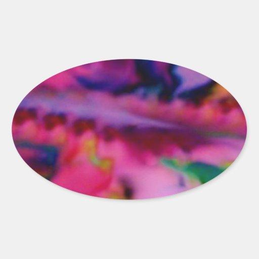 Heavenly Ascension Fractal Inspirationals Oval Sticker