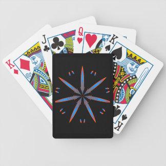 Heavenly Bloom Orange & Blue Playing Cards