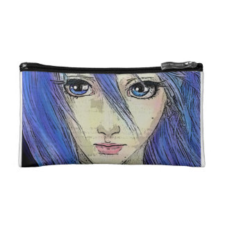 Heavenly Blue Message Makeup Bags