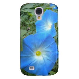 Heavenly Blue Morning Glories iPhone 3 case