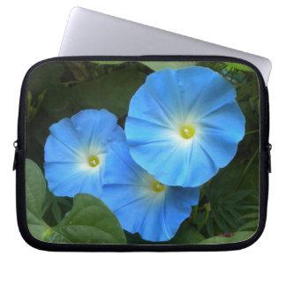 Heavenly Blue Morning Glories Laptop Sleeve
