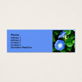 Heavenly Blue Morning Glories Mini Business Card
