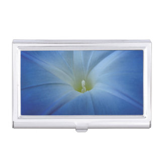 Heavenly Blue Morning Glory Close-Up Business Card Holder