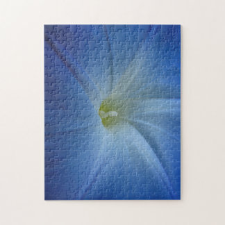 Heavenly Blue Morning Glory Close-Up Jigsaw Puzzle