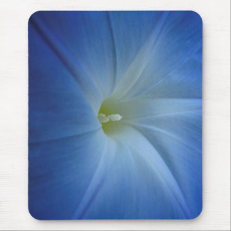 Heavenly Blue Morning Glory Close-Up Mouse Pad
