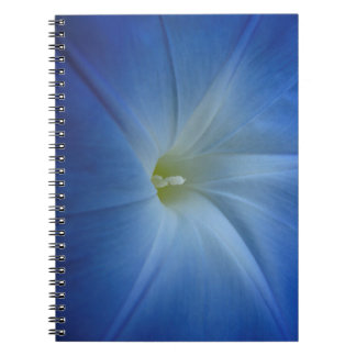 Heavenly Blue Morning Glory Close-Up Spiral Notebook