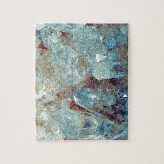 Heavenly Blue Quartz Crystal Jigsaw Puzzle
