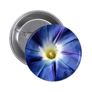 Heavenly Blue Single Flower Pinback Buttons