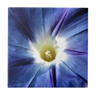 Heavenly Blue Single Flower Ceramic Tiles
