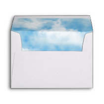 Heavenly Blue Sky with Clouds Print Envelope